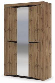 Šatní skříň 3D PAOLA dub kraft zlatý/wenge