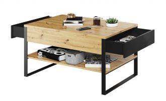 Konferenční stolek LAKO 08 2S dub evoke/černá