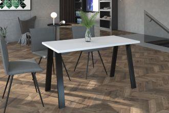 Jídelní stůl KOLINA 138x90 cm černá/bílá