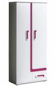 Šatní skříň APETTITA 1 antracit/růžová