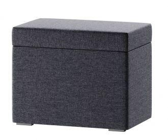 Čalouněný taburet LUCCA 10 šedý