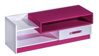 Televizní stolek TRAFICO 10 bílá/růžová