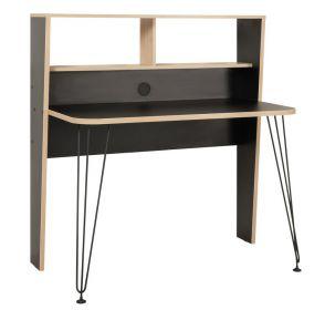 Pracovní stůl BRAYDEN 3 12.67 černá/dub sonoma