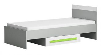 Postel 90x200 cm GYT 12 antracit/bílá/zelená