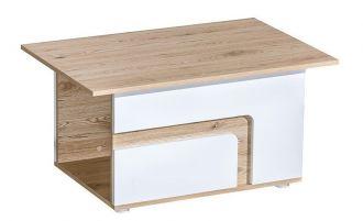 Konferenční stolek APETTITA 18 dub jasný/bílá