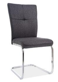 Jídelní čalouněná židle H-190 grafitově šedá/chróm