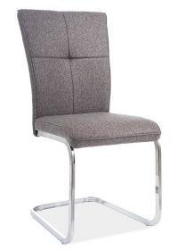 Jídelní čalouněná židle H-190 šedá/chróm