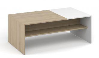 Konferenční stolek MONACO sonoma/bílá