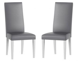 Jídelní čalouněná židle VOLANO 141 (2ks) bílá mat