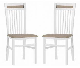 Čalouněná židle VOLANO 131 (2ks) bílá mat