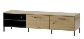 TV stolek LUCAS 25 dub artisan/černá mat