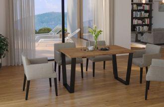 Jídelní stůl KAISARA 138x67 cm černá/lancelot