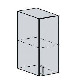 30H h. skříňka 1-dveřová VALERIA wk/wenge