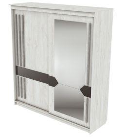 Skříň s posuv. dveřmi 200 cm ANIKA santorini/grafit/železná ruda