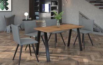 Jídelní stůl KOLINA 138x90 cm černá/lancelot