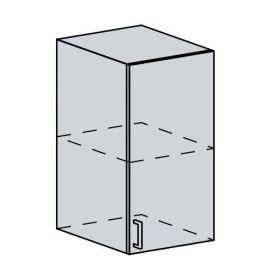 40H h. skříňka 1-dveřová VALERIA bk/red stripe