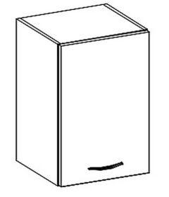 W40 horní skříňka jednodveřová GREY pravá