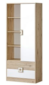 Kombinovaná skříň NIKO 4 dub jasný/bílá
