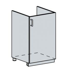 50DZ d. skříňka 1-dveřová pod dřez TECHNO bk/oranžová metalic