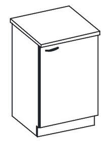 D60 dolní skříňka jednodveřová KARMEN pravá
