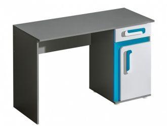 Pracovní stůl APETTITA 9 antracit/tyrkys