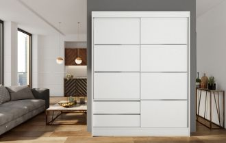 Skříň s posuv. dveřmi 150 cm VARIA bílá