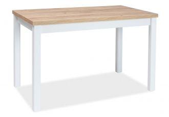 Jídelní stůl ADAM 120x68 dub zlatý craft/bílá mat