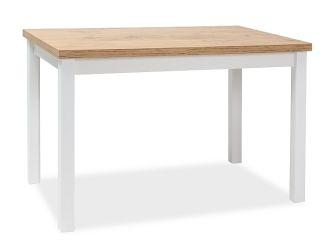 Jídelní stůl ADAM 120x68 dub lancelot/bílá mat