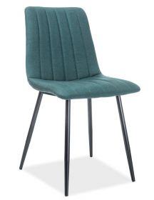 Jídelní čalouněná židle ALAN zelená/černá