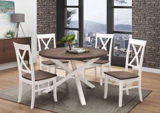 Jídelní stůl ALICANTE bílá/wenge