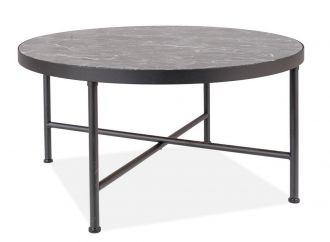 Konferenční stolek AMULET černý mramor/černá mat
