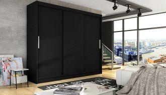 Šatní skříň ASTON II černá