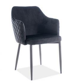 Jídelní čalouněná židle ASTOR velvet černá/černá