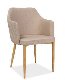 Křeslo-židle čalouněná ASTOR béžová