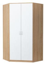 Rohová šatní skříň ALEX dub sonoma/bílá