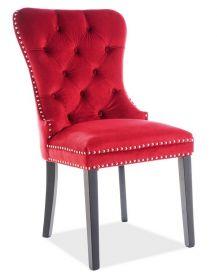 Jídelní čalouněná židle AUGUST VELVET červená bordó/černá