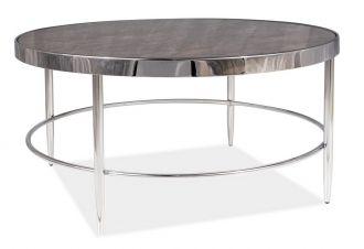 Konferenční stolek AURORA B mramor/chróm