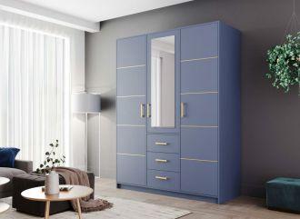 Šatní skříň BASILIO D3 modrá