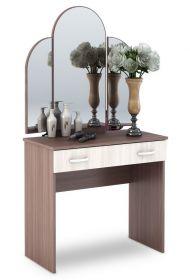 Toaletní stolek se zrcadlem BASIA CT-551 sv./tm. jasan šimo
