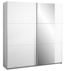 Šatní skříň BISMARK 200 bílá/bílá