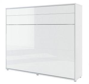 Výklopná postel 160 REBECCA bílá lesk/bílá mat