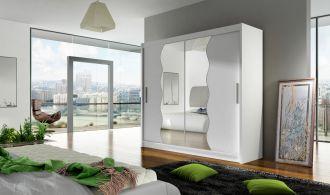 Šatní skříň BEGA X bílá zrcadlo