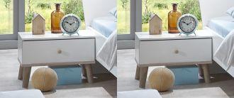 2SET noční stolek  BERGEN 698 bílá/dub