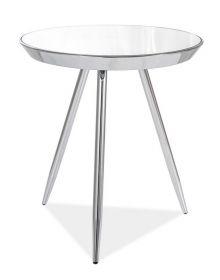 Konferenční stolek BORA C chróm/zrcadlo