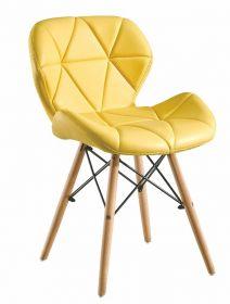 Jídelní židle BOSSE žlutá