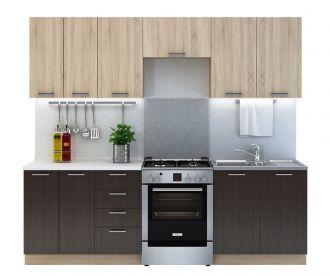 Kuchyně CREMA 240 wenge/sonoma