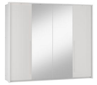 Šatní skříň BREMA 255 bílá/bílá