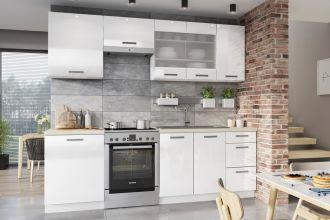 Kuchyně BURNS 240 bílá akryl