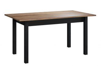 Jídelní stůl rozkládací BAXTER 11 černá/dub versal