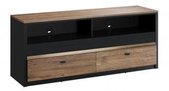 TV stolek BAXTER 06 černá/dub versal